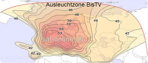 BisTV Ausleuchtzone BisTV Empfang Länder