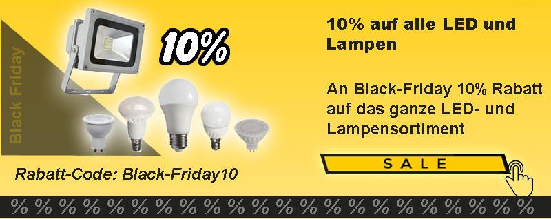 10% auf alle Lampen und LED Artikel