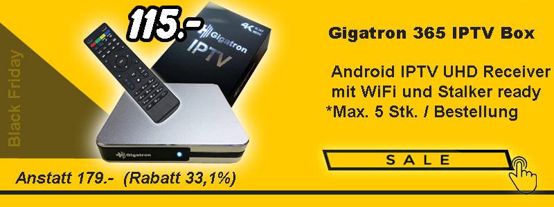 Gigatron UHD / 4K IPTV Receiver