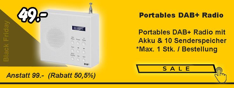 Portables DAB+ Radio mit Akku
