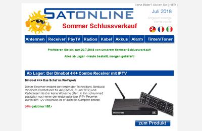 Satonline Newsletter Juli 2018